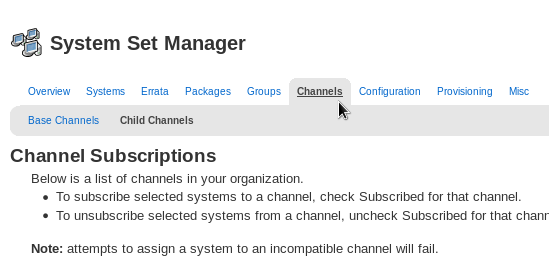 Software Channels