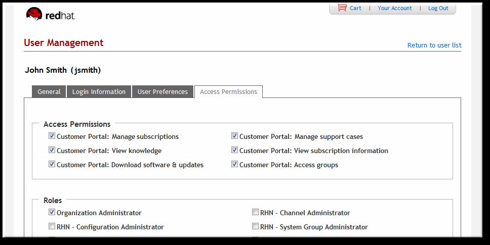 Subscription Management Permission