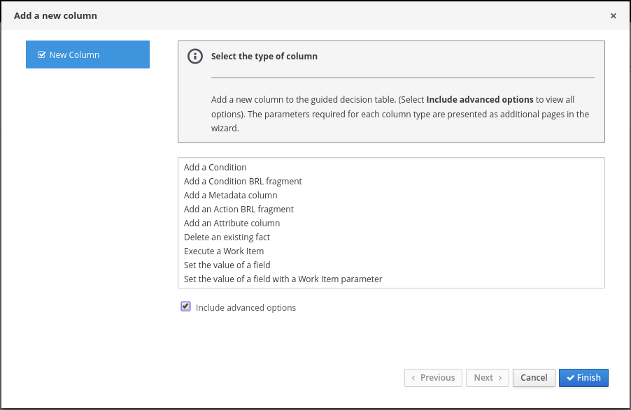 Designing a decision service using guided decision tables