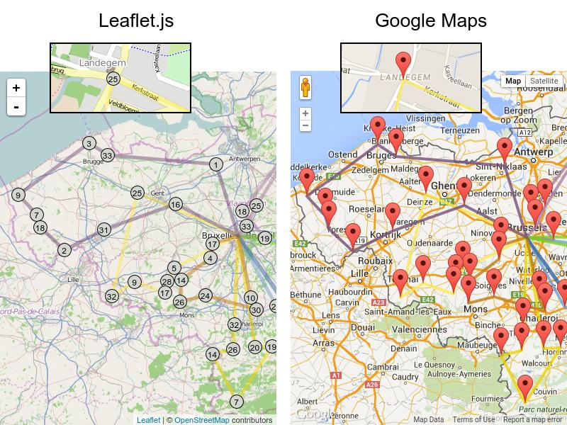 vehicleRoutingLeafletAndGoogleMaps