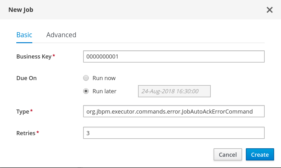 auto acknowledge error job1