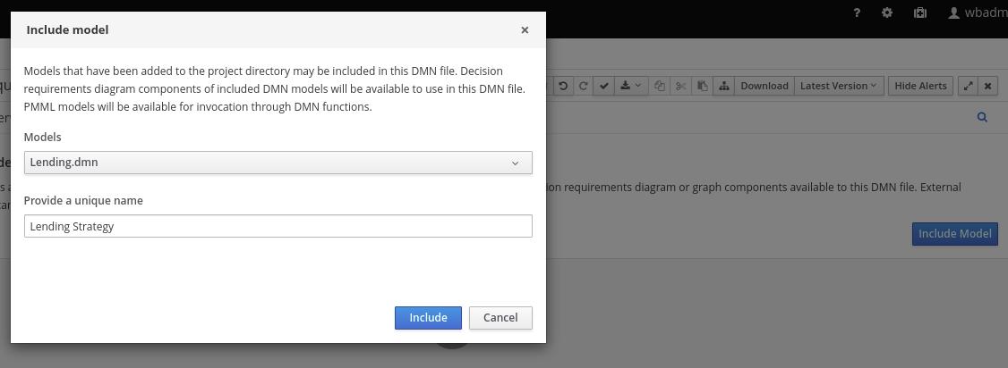 dmn include model
