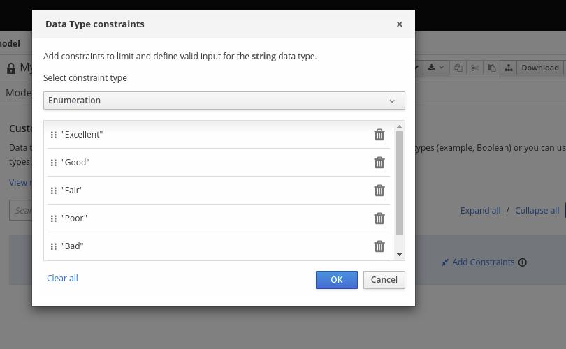 dmn custom data type constraints