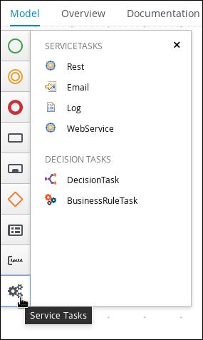 Service tasks in process designer