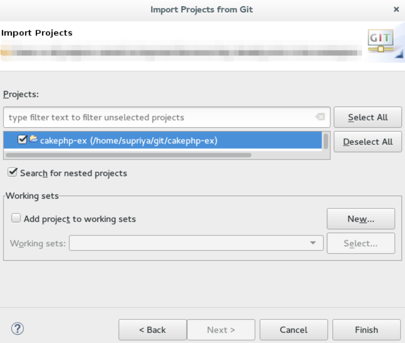 Importing an Existing Eclipse Project