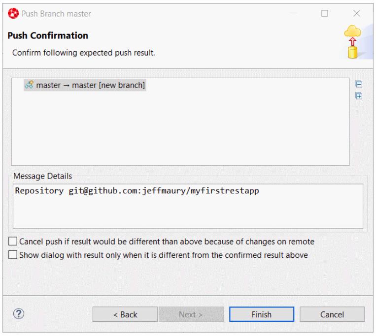 Push Confirmation window