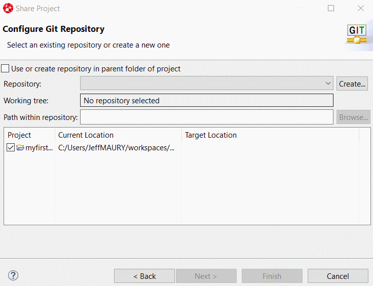 Configuring the Git Repository
