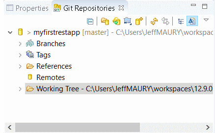 A new Git Repositories view added