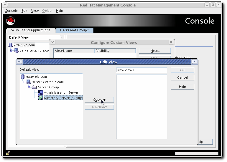 The Red Hat Management Console Interface