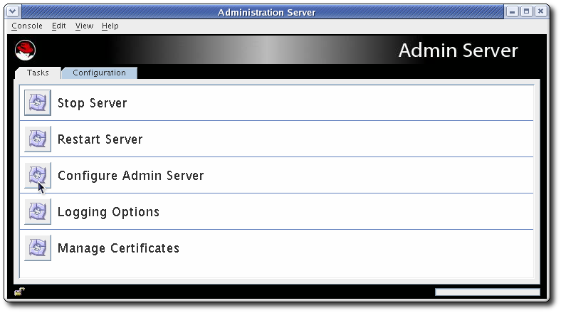 The Administration Server Console