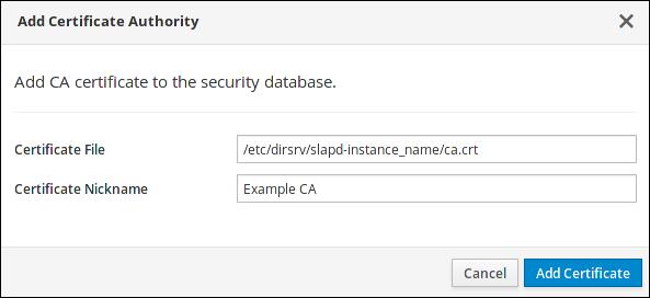 Adding a CA Certificate