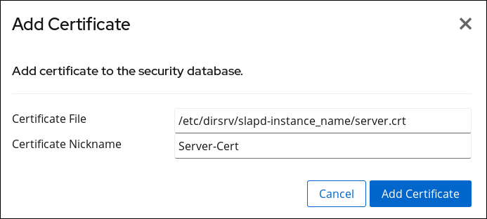 Adding a Server Certificate
