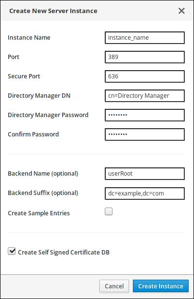create new server instance