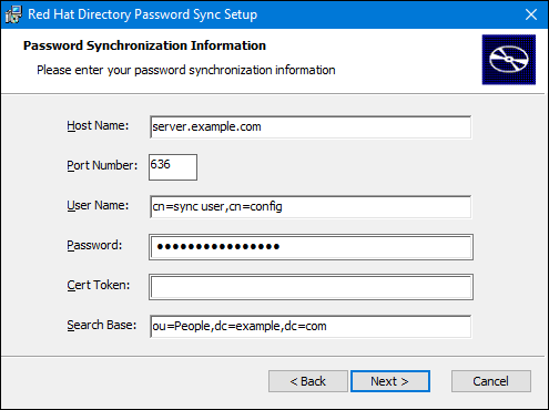 PassSync settings