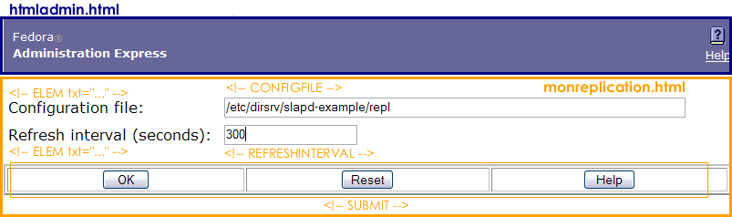 Monitoring Replication Setup Page Elements
