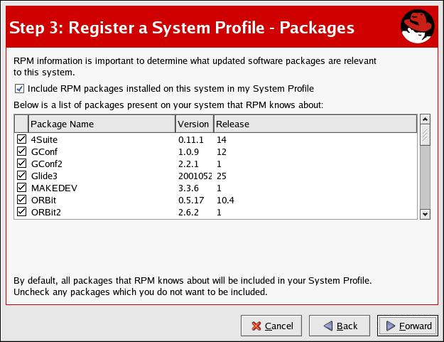 Registering with RHN