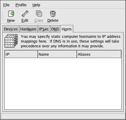 Hosts Configuration