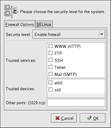 Security Level Configuration Tool