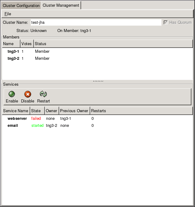 Cluster Status Tool