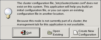 Starting a New Configuration File