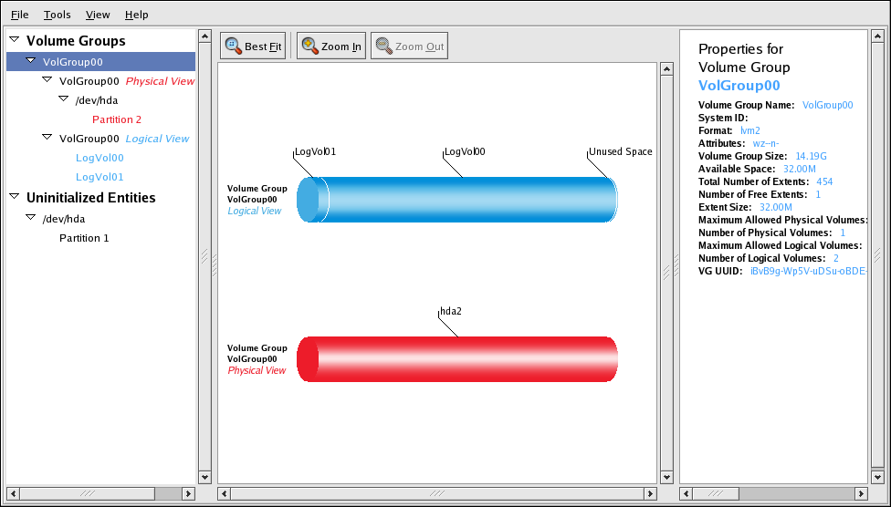 LVM Graphical User Interface