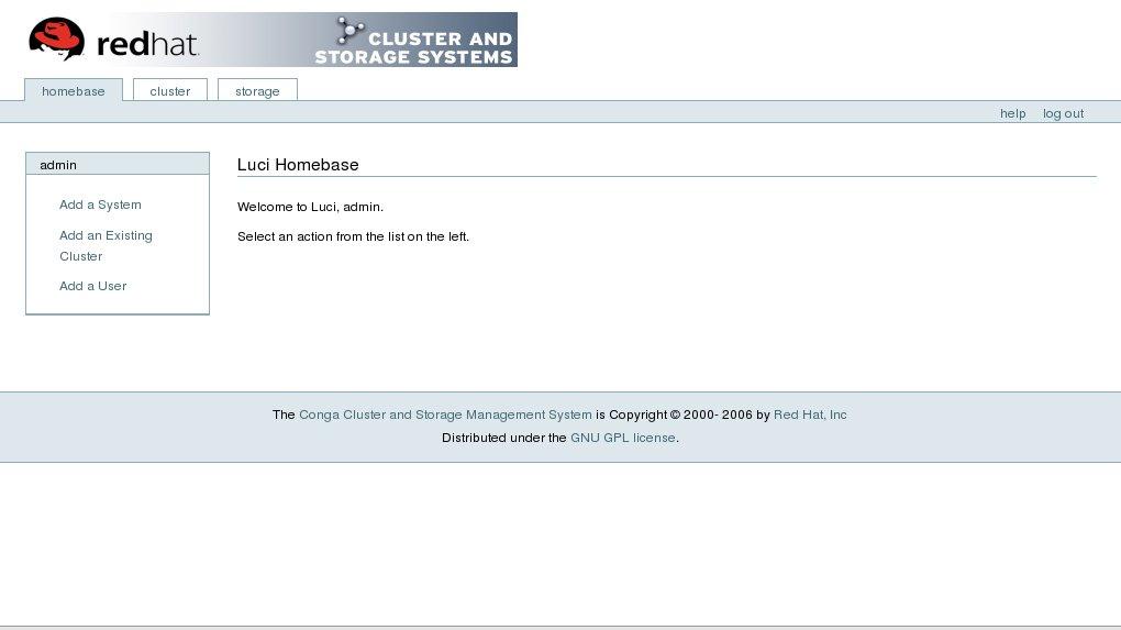 luci 的 homebase 标签页