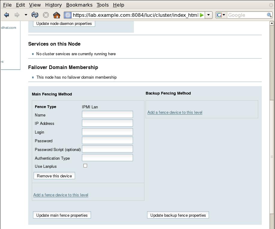 4 3  IPMI Fence Device Configuration Procedure - Red Hat Customer Portal