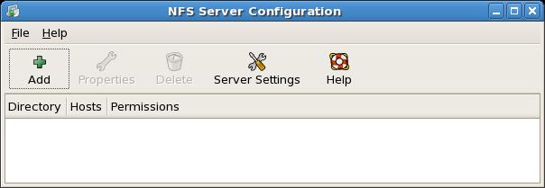 NFS Server Configuration Tool