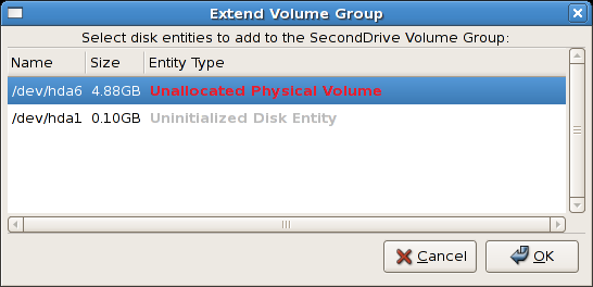 Select disk entities