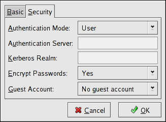 Configuring Security Server Settings