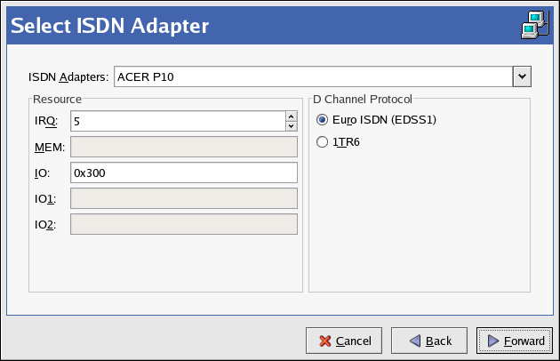 ISDN Settings