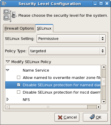 Using the Security Level Configuration dialog box to change a runtime boolean.