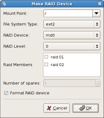 Creating a Software RAID Device