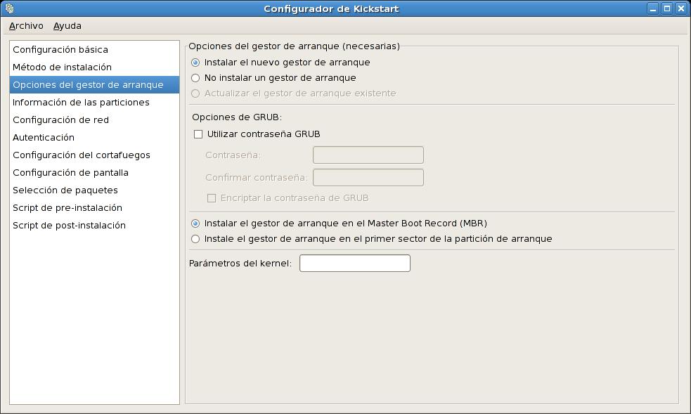 Boot Loader Options