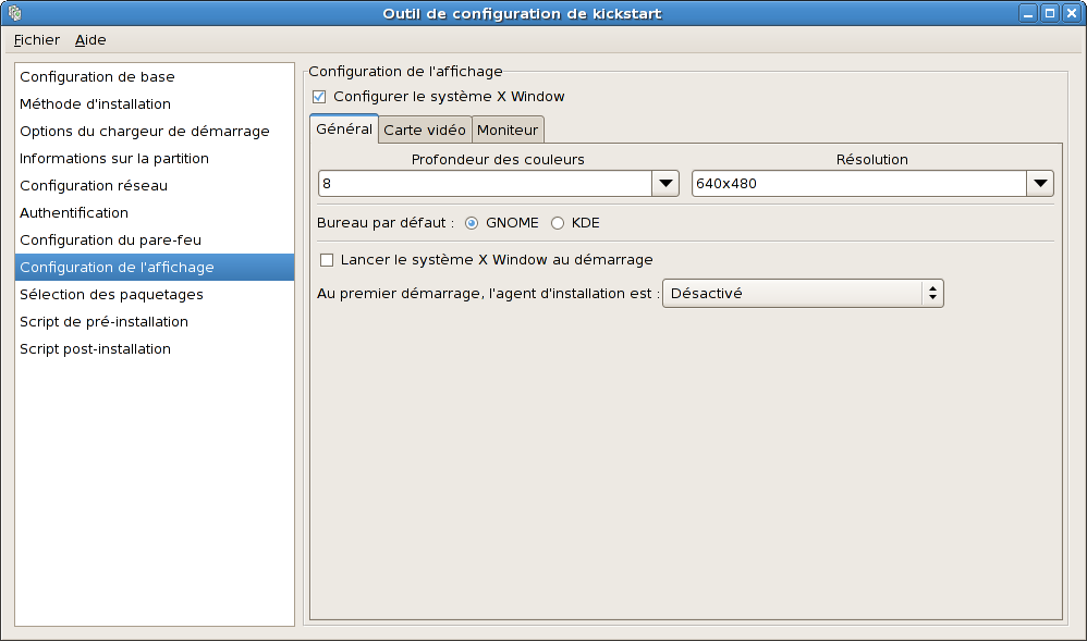 Configuration de X Window - Général