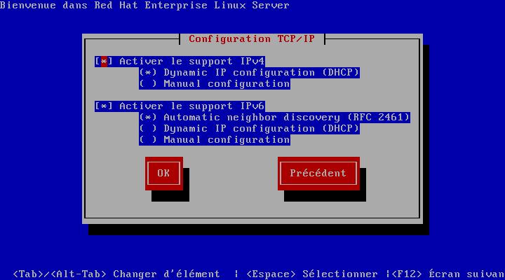 Configuration TCP/IP
