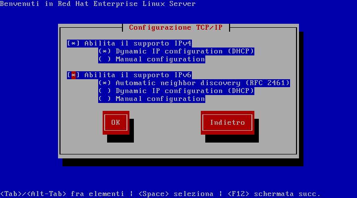 Configurazione TCP/IP