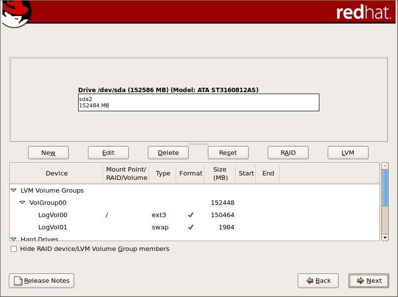在 x86、 AMD64 和 Intel 64 系統上使用 Disk Druid 執行磁碟分割