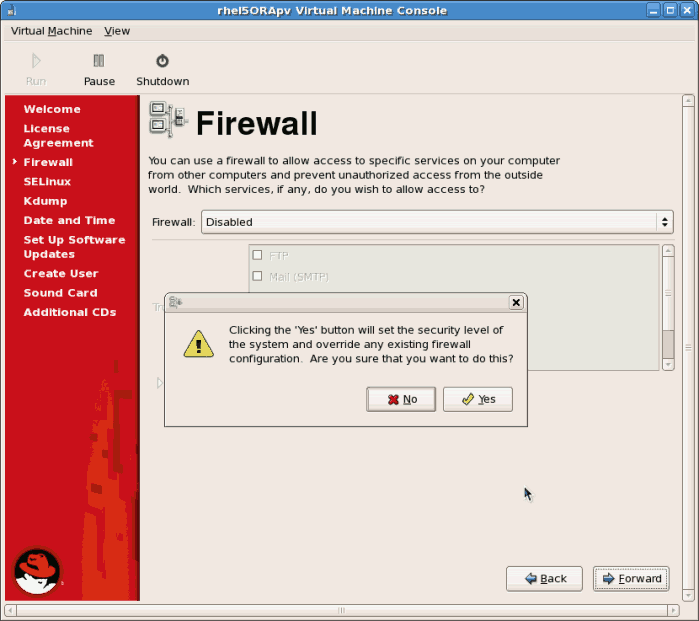 How do I temporarily disable firewall software on my windows 8