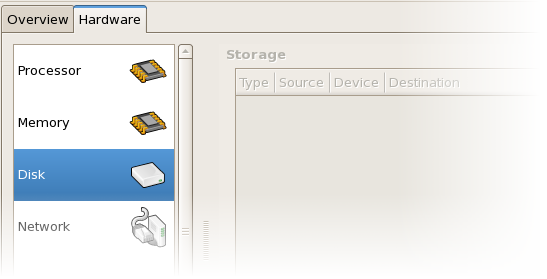 Displaying disk configuration