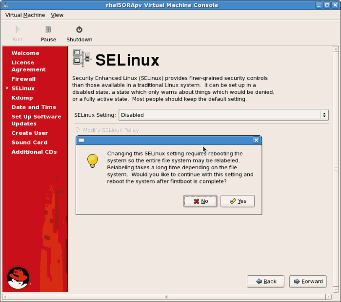 Disable SELinux on RedHat Linux