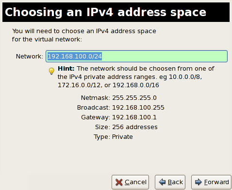Choosing an IPv4 address space
