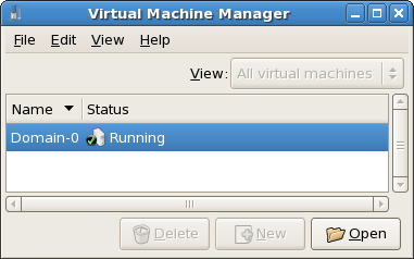 Displaying a virtual machine's status