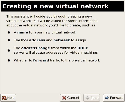 Creating a new virtual network