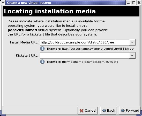 Determinare il media d'installazione
