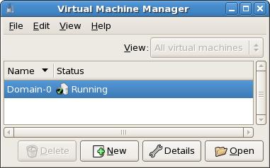 Visualizzazione dello stato della macchina virtuale