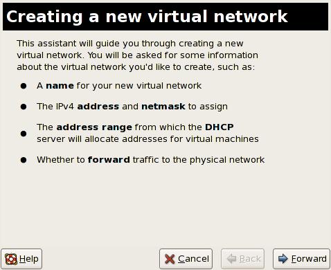 Creazione di una nuova rete virtuale