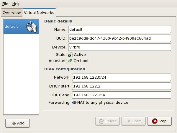 Configurazione rete virtuale