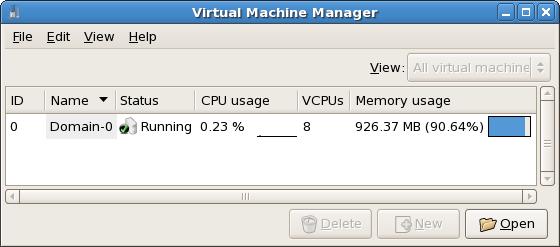virt-manager の開始