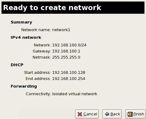 ネットワーク作成への準備終了